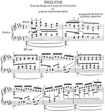 Bach=Mannes/ Prelude in E major