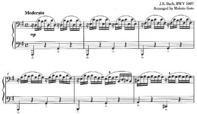 Bach=Goto/ Prelude from Cello Suite BWV 1007