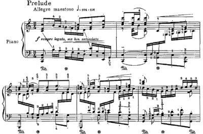 Bach=Godowsky/Prelude from Suite No.3 for violincello solo BWV 1009