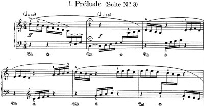 Bach=Siloti/Prelude from Four Etude after Cello Suites