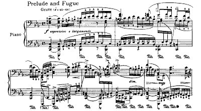 Bach=Godowsky/Prelude and Fugue from Suite No.5 for violincello solo BWV 1011