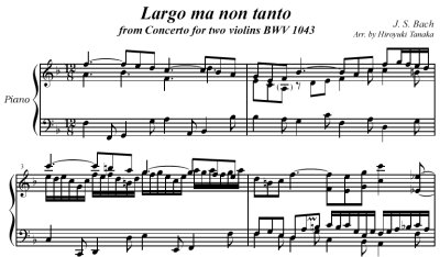 Bach=Tanaka/ Largo ma non tanto from Concerto for two violins BWV 1043