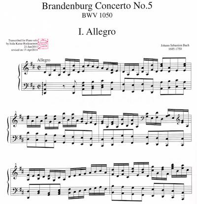 J. S. Bach=Rockzaemon/ Brandenburg Concerto No. 5 BWV 1050
