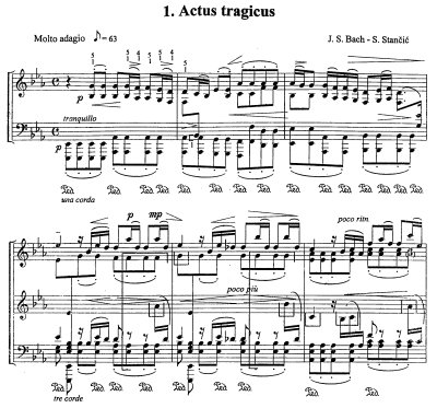 Bach=Stancic/Prelude from Cantata BWV 106 'Actus tragicus'