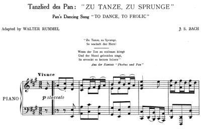 Bach=Rummel/ Aria 'Zu Tanze, zu Sprunge' from Cantata BWV 201