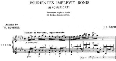 Bach=Rummel/ Aria 'Esurientes implevit bonis' from Magnificat BWV 243