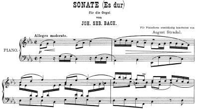 Bach=Stradal/ Trio Sonata No.1 BWV 525