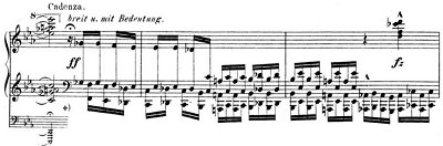 Bach=Busoni/ Cadenza I of Prelude and Fugue in E flat Major, BWV 552