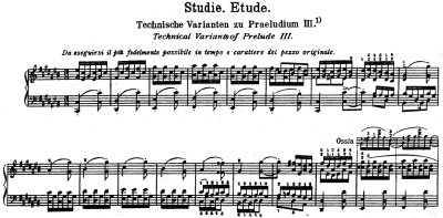 Bach=Busoni/ Etude [Technical Variants of Prelude No.3]