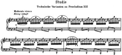 Bach=Busoni/ Etude [Technical Variants of Prelude No.21]