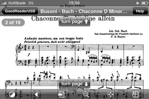 Sheet music on my iPhone