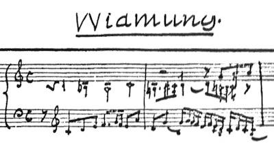 Busoni/ Widmung (manuscript)