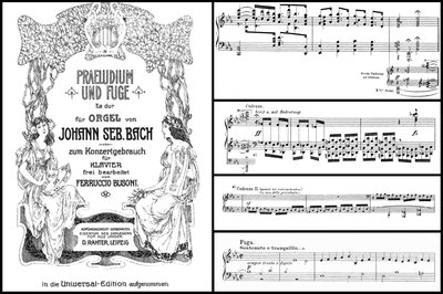 Bach-Busoni BWV 552 (first edition, 1889)